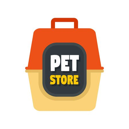 Pet box store , flat style