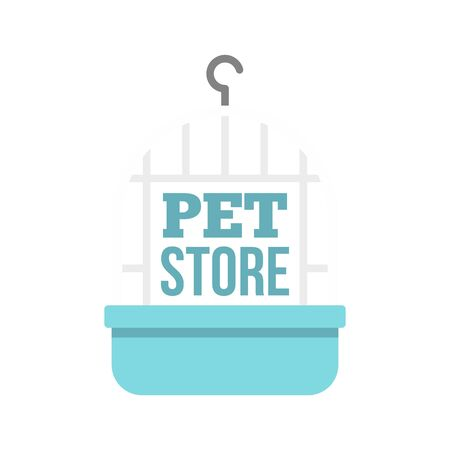 Bird cage pet store , flat style Stock fotó - 130164558
