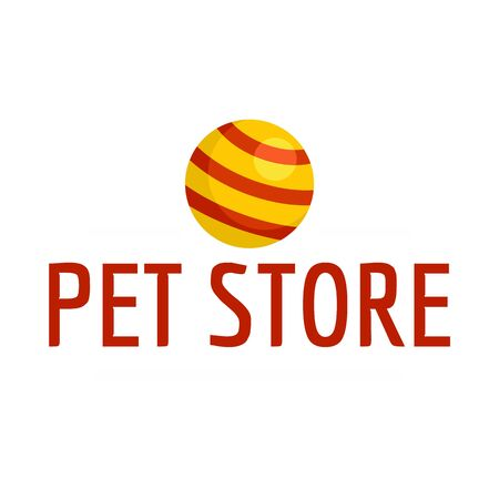 Pet toys store , flat style