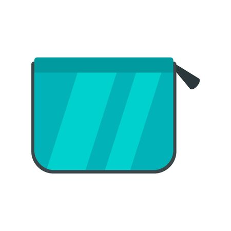 Pencil box icon, flat style