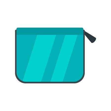 Pencil box icon, flat style