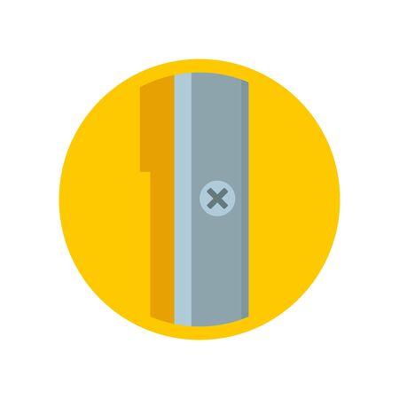 Round sharpener icon, flat style