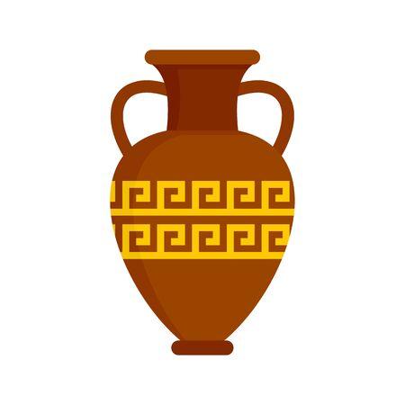 Ancient vase icon, flat style