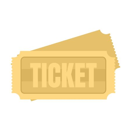 Museum ticket icon, flat style Иллюстрация