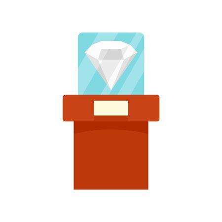 Big museum diamant icon, flat style Иллюстрация