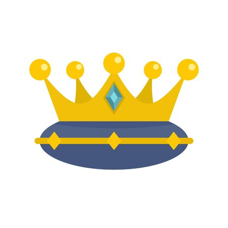 Queen crown icon, flat style