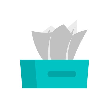 Dry napkins icon. Flat illustration of dry napkins vector icon for web design
