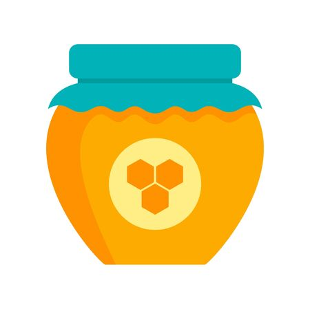 Honey jar icon, flat style Illustration