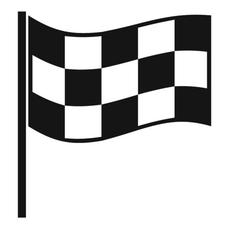 Finish flag icon, simple style