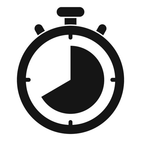 Lap time stopwatch icon, simple style