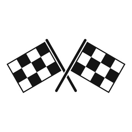 Rally flags icon, simple style