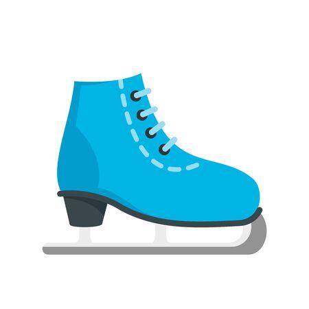 Ice skate icon, flat style