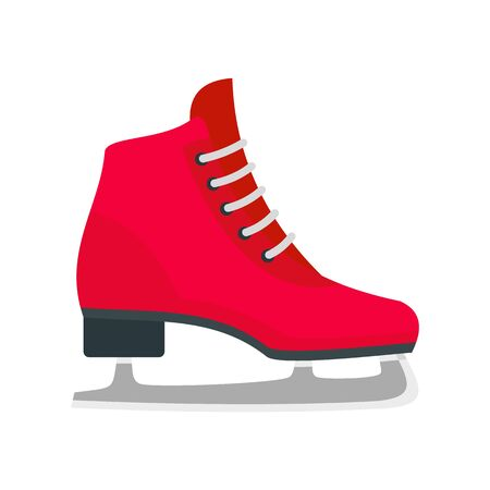Classic ice skate icon, flat style