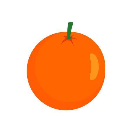 Whole grapefruit icon, flat style