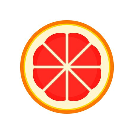 Cutted grapefruit icon. Flat illustration of cutted grapefruit vector icon for web design Stok Fotoğraf - 130087297