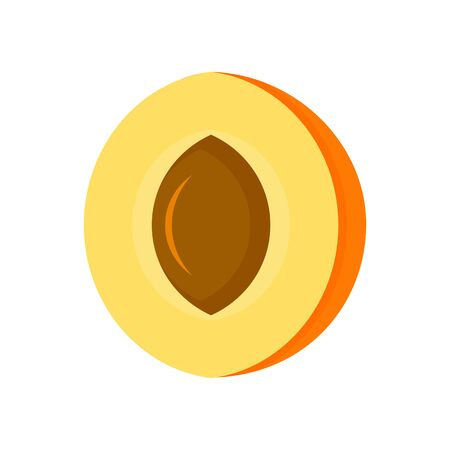 Half apricot icon. Flat illustration of half apricot vector icon for web design