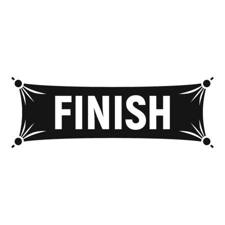 Finish textile banner icon. Simple illustration of finish textile banner vector icon for web design isolated on white background 일러스트