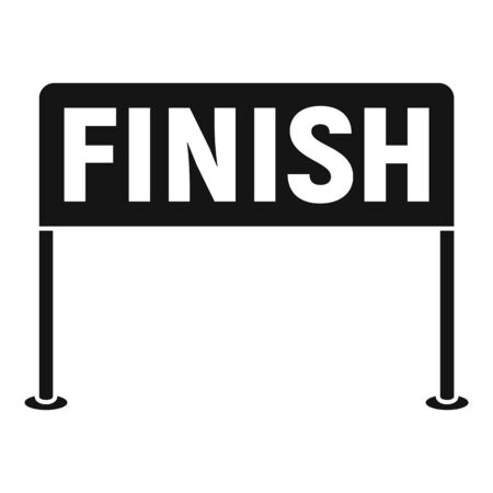 Finish race icon. Simple illustration of finish race vector icon for web design isolated on white background