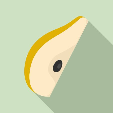 Slice pear icon. Flat illustration of slice pear vector icon for web design Иллюстрация