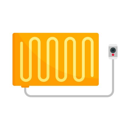 Warm electric blanket icon, flat style Ilustracja