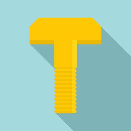 Furniture screw bolt icon, flat style 스톡 콘텐츠 - 130163734