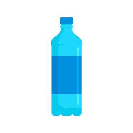 Water bottle icon, flat style