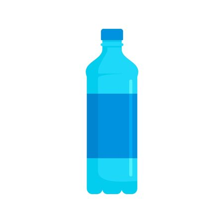 Water bottle icon, flat style