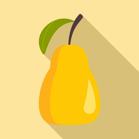 Tasty pear icon. Flat illustration of tasty pear vector icon for web design Archivio Fotografico - 130163746