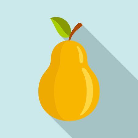 Vegan pear icon. Flat illustration of vegan pear vector icon for web design  イラスト・ベクター素材