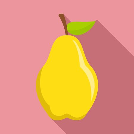Sweet pear icon. Flat illustration of sweet pear vector icon for web design