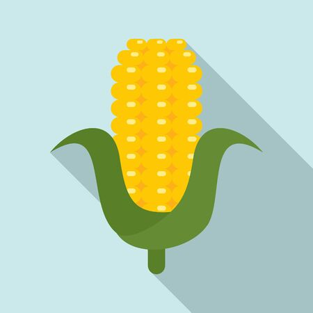Eco corn icon. Flat illustration of eco corn vector icon for web design