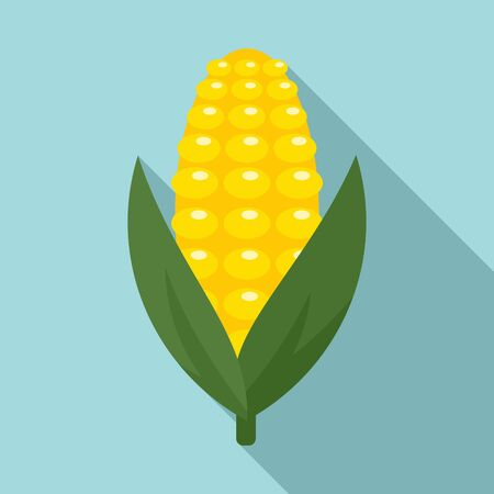 Tasty corn icon. Flat illustration of tasty corn vector icon for web design