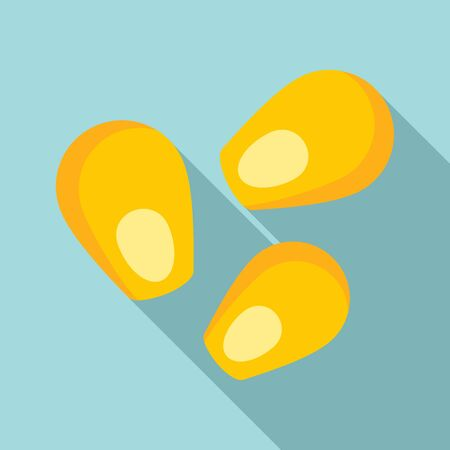 Corn seed icon. Flat illustration of corn seed vector icon for web design