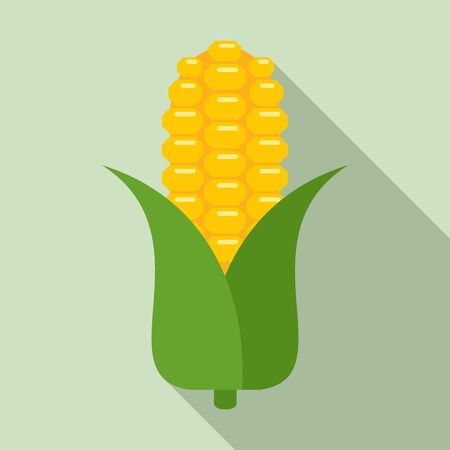 Corn plant icon. Flat illustration of corn plant vector icon for web design
