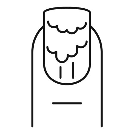 Finger nail polish icon. Outline finger nail polish vector icon for web design isolated on white background Illusztráció