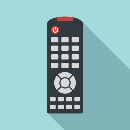 Tv remote control icon. Flat illustration of tv remote control vector icon for web design