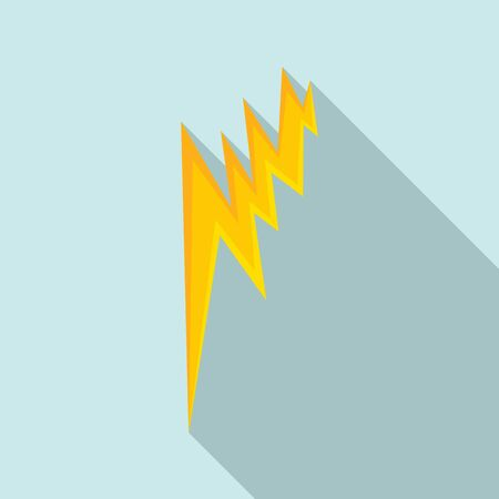 Lightning bolt icon. Flat illustration of lightning bolt vector icon for web design