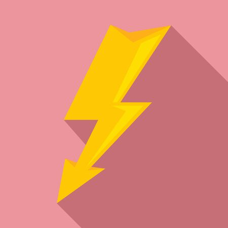 Electric lightning bolt icon. Flat illustration of electric lightning bolt vector icon for web design