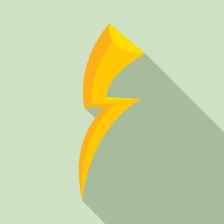 Shock lightning bolt icon. Flat illustration of shock lightning bolt vector icon for web design Иллюстрация