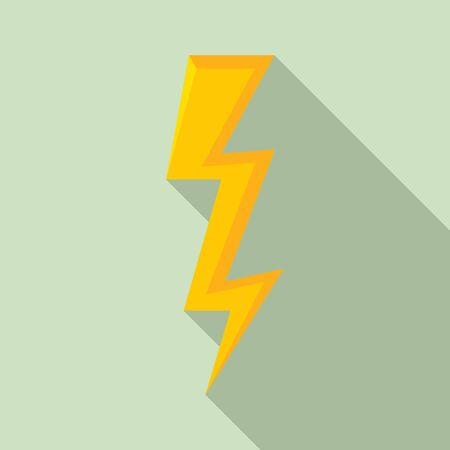 Speed lightning bolt icon. Flat illustration of speed lightning bolt vector icon for web design Ilustracja
