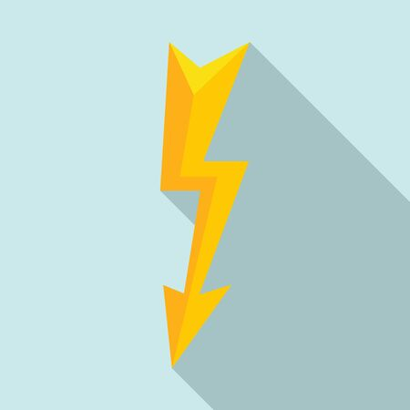 Thunderbolt icon. Flat illustration of thunderbolt vector icon for web design