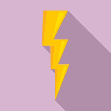 Power lightning bolt icon. Flat illustration of power lightning bolt vector icon for web design