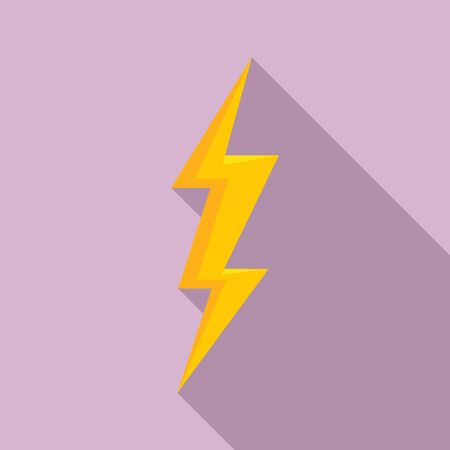 Storm lightning bolt icon. Flat illustration of storm lightning bolt vector icon for web design
