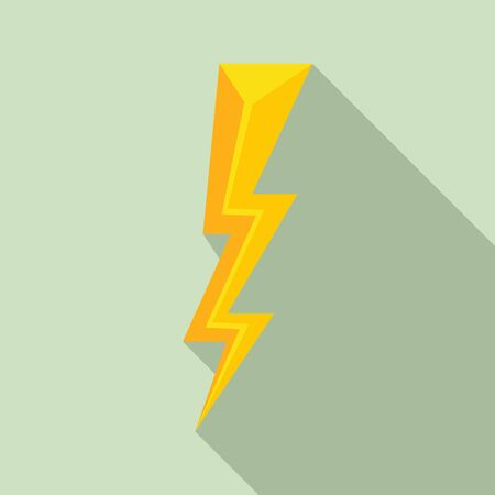 Strike lightning bolt icon. Flat illustration of strike lightning bolt vector icon for web design Illusztráció