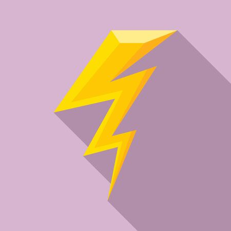 Flash lightning bolt icon. Flat illustration of flash lightning bolt vector icon for web design Ilustracja