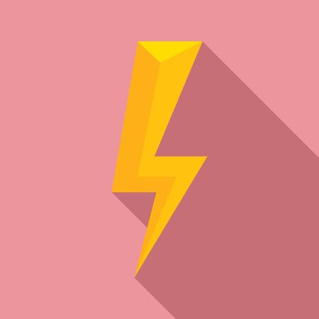 Energy lightning bolt icon. Flat illustration of energy lightning bolt vector icon for web design Ilustracja
