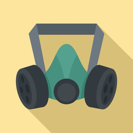 Mine gas mask icon. Flat illustration of mine gas mask vector icon for web design