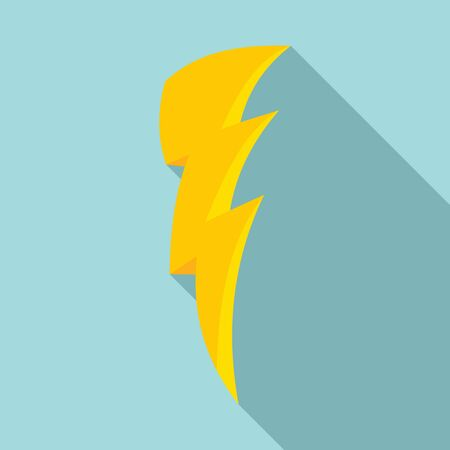 Art lightning bolt icon. Flat illustration of art lightning bolt vector icon for web design