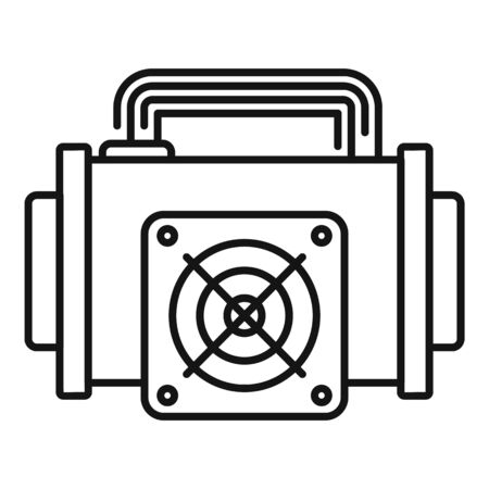 Crypto mining icon. Outline crypto mining vector icon for web design isolated on white background