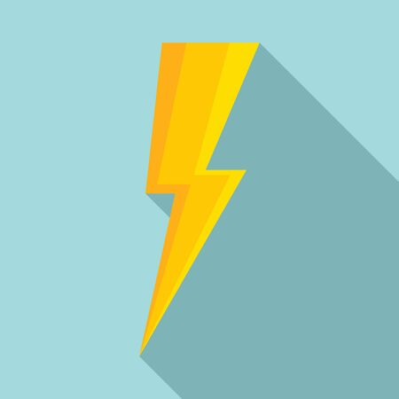 Night lightning bolt icon. Flat illustration of night lightning bolt vector icon for web design